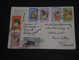 CAMEROUN - Bel Affranchissement Composé Sur Carte Postale En 1967 - A Voir - L 145 - Camerun (1960-...)