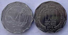 SRI LANKA 10 RUPEE 2013 KU NI FDC UNC BADULLA FALLS - Sri Lanka