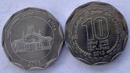 SRI LANKA 10 RUPEE 2013 KU NI FDC UNC JAFFNA MONUMENT - Sri Lanka