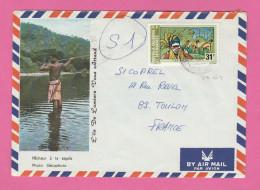 NOUVELLE CALEDONIE - TIMBRE POSTE AERIENNE N° 164 SUR LETTRE - Luftpost