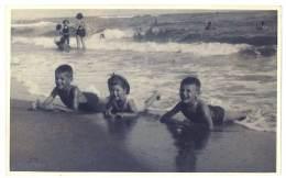 Carte-photo Valras, Plage, Bord De Mer, Enfants - France