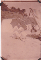 2- Photo Vancances Aout 1929 -entre Kerfany Les Pins Et Le Pouldu -finistere Bretagne Moellan-coins Abimés -plage
