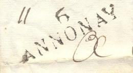 ARDECHE 07 ANNONAY LAC Du 31/05/1818 Linéaire Et  Taxe 6  Pour LYON TTB - Marcophilie (Lettres)