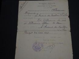 FRANCE - Laissez Passer  De St Amand Du Ventôme En 1940 - A Voir - L 168 - Documents