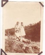 18- Photo Vancances Aout 1929 -entre Kerfany Les Pins Et Le Pouldu -finistere Bretagne Moellan-coin Abimé -