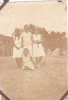 23- Photo Vancances Aout 1929 -entre Kerfany Les Pins Et Le Pouldu -finistere Bretagne Moellan-coin Abimé- Plage