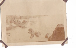 25- Photo Vancances Aout 1929 -entre Kerfany Les Pins Et Le Pouldu -finistere Bretagne Moellan-coin Abimé- Plage - Plaatsen