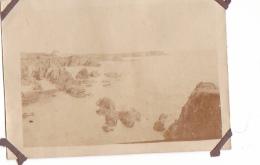 25- Photo Vancances Aout 1929 -entre Kerfany Les Pins Et Le Pouldu -finistere Bretagne Moellan-coin Abimé- Plage