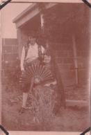 29- Photo Vancances Aout 1929 -entre Kerfany Les Pins Et Le Pouldu -finistere Bretagne Moellan-coin Abimé- Costume Bal