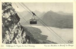 Téléphérique De Veyrier Du Lac D'Annecy - Vue Sur Mentbon Et Massif Des Bauges - Cie. Photomécaniques Strasbourg 1125 - Annecy
