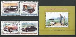 Korea, North - 2003 Cars Used By Kim Il Sung.MNH - Corée Du Nord