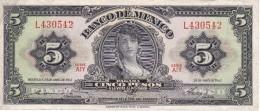 BILLETE DE MEXICO DE 5 PESOS DEL AÑO 1963   (BANKNOTE) - México