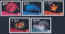 ROSS DEPENDENCY 2003Marine Life Set Of 5v** - Ross Dependency (New Zealand)