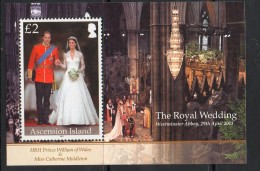 2011 Ascension Royal Wedding Souvenir Sheet MNH - Ascension (Ile De L')