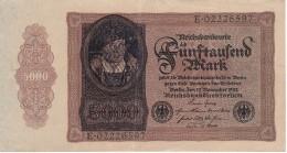 BILLETE DE ALEMANIA DE 5000 MARCK DEL AÑO 1922 CALIDAD MBC (VF)  (BANKNOTE) - [ 3] 1918-1933 : República De Weimar