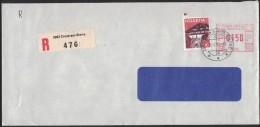 PF235      Switzerland, Svizzera 1982, Letter Registred Crans-sur-Sierre - Storia Postale