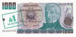 BILLETE DE ARGENTINA DE 100 PESOS = 1 AUSTRAL DEL AÑO 1985  (BANKNOTE) SIN CIRCULAR-UNCIRCULATED - Argentinië