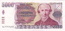 BILLETE DE ARGENTINA DE 5000 PESOS ARGENTINOS DEL AÑO 1984  (BANKNOTE) SIN CIRCULAR-UNCIRCULATED - Argentina
