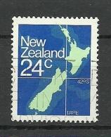 NEW ZEALAND 1982 Michel 840 Map Karte O - Geografía