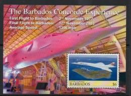 2008 Barbados Concorde Souvenir Sheet Complete Set Of 4  MNH - Barbados (1966-...)