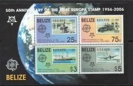 2006 Belize  UPU Europa Stamp Anniversary  Souvenir Sheet   MNH - Belize (1973-...)