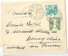 Streifband 49  Berg (St.Gallen) - Königstein Taunus           1938 - Entiers Postaux