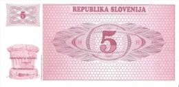 Slovenia - Pick 3 - 5 Tolarjev 1990 - Unc - Slovénie