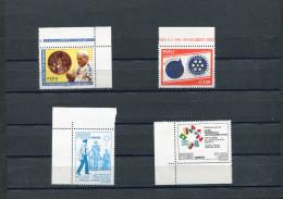 PEROU Peru 1988 Y&T 875-878** Pape Jean-paul II Rotary - Peru
