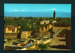 MOROCCO  -  Marrakesh  Koutoubia  Unused Postcard - Marrakech