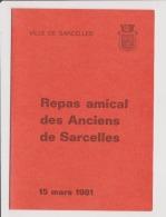 Menu Sur Carton Souple - VILLE DE SARCELLES - Repas Amical Des Anciens De Sarcelles  15 Mars 1981 - Menus