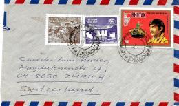26911 - Fragment D'enveloppe Envoyée Du Bhutan En Suisse - Bhutan