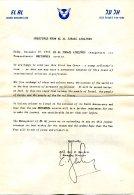Lettre EL AL Israël Du 22 Décembre 1957 - Fatture & Documenti Commerciali