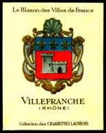 Cigarettes Laurens Blason Des Villes De France Historique Des Armoiries Villefranche 2 Scans - Non Classés