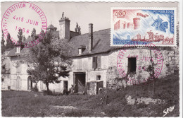 Carte-Maximum FRANCE N° Yvert 1486 (Château De GUILLAUME Le CONQUERANT)obl Sp1er Jour Bonneville Sur Touques RRR - Maximum Cards