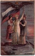 SERBIA UKRAINE RUSSIAN PROPAGANDA WW1 Illustrator Sharapov, Dmitry Filippovich - Russia