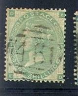 GREAT BRITAIN     42, Used, Pl#1, Sound, SCV$260....  (gb042-10, S.G.  90, , Green, [16-BFT - 1840-1901 (Victoria)