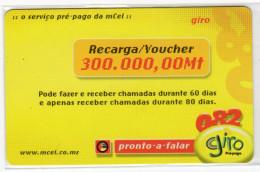 MOZAMBIQUE PREPAYEE GIRO 300 000 Mt Année 2006 - Mozambique