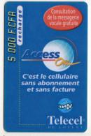 COTE D´IVOIRE RECHARGE TELECEL Année 1999 - Ivory Coast