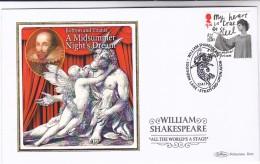 2011 GB Ltd Edition SILK FDC SARA KESTELMAN Stamps Special Pmk SHAKESPEARE SOUTHERN LANE STRATFORD Theatre Cover - FDC