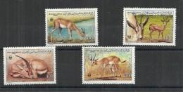 1987- Libya- Global Nature Conservation - Sand Gazelle- WWF- Complete Set 4v MNH - Libia