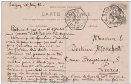 INDOCHINE  CACHET SPECIAL SAIGON B                          Réf  2903 - Indochine (1889-1945)