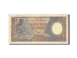 Indonésie, 10 Rupiah, 1963, KM:89, Undated, TTB+ - Indonésie