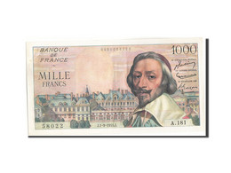 France, 1000 Francs, 1 000 F 1953-1957 ''Richelieu'', 1955, 1955-09-01, KM:13... - 1871-1952 Circulated During XXth