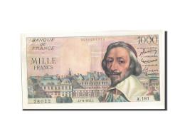 France, 1000 Francs, 1 000 F 1953-1957 ''Richelieu'', 1955, 1955-09-01, KM:13... - 1871-1952 Anciens Francs Circulés Au XXème