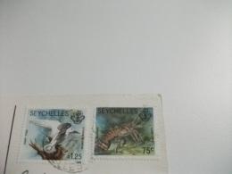 STORIA POSTALE FRANCOBOLLO COMMEMORATIVO UCCELLO BIED SEYCHELLES ANSE SOURCE D'ARGENT LA DIGUE - Seychelles