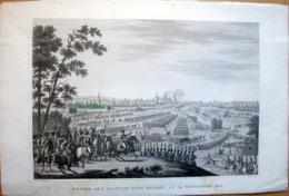 RUSSIE RUSSIA ENTREE DES FRANCAIS DANS MOSCOU EN 1812 GRAVURE DE 1850  NAPOLEON CONTRE KOUTOUZOV - Cartes Géographiques