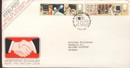##Great Britain FDC (08). 1982. Intelpost. Michel 927-28. - FDC