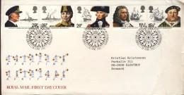 ##Great Britain FDC (09). 1982. Navigation. Michel 918-22. - FDC