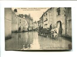 CP -  MEZIERES (08) CRUES DE LA MEUSE 23 25 JANVIER 1910 LA RUE COLETTE PENDANT L INONDATION - France