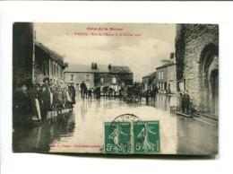 CP - WARCQ (08) CRUE DE LA MEUSE RUE DE L EGLISE LE 28.02.1910 - France